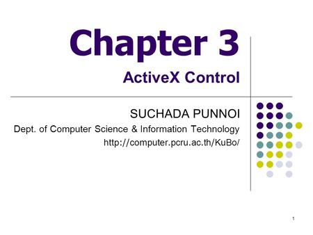 Chapter 3 ActiveX Control