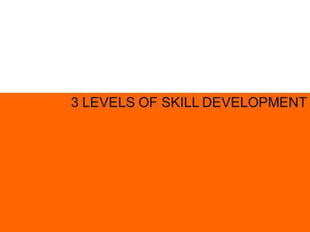 3 LEVELS OF SKILL DEVELOPMENT. HUMAN SKILL TECHNICAL SKILL 3 LEVELS OF SKILL DEVELOPMENT CONCEPTUAL SKILL.