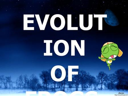 EVOLUTION OF FROGS..
