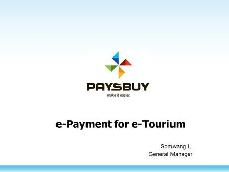 e-Payment for e-Tourium