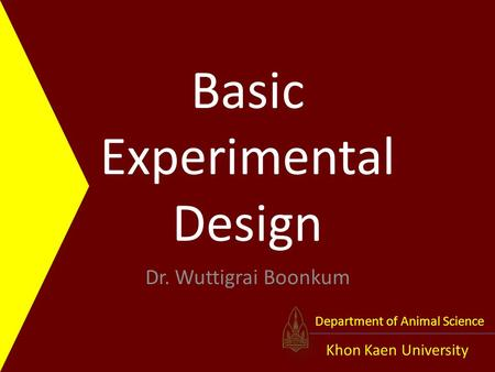 Basic Experimental Design
