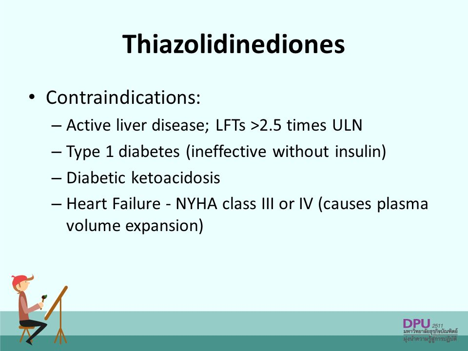 Thiazolidinediones Contraindications:
