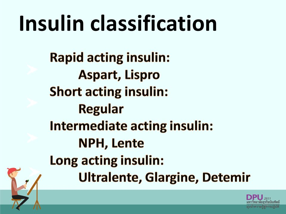 Insulin classification