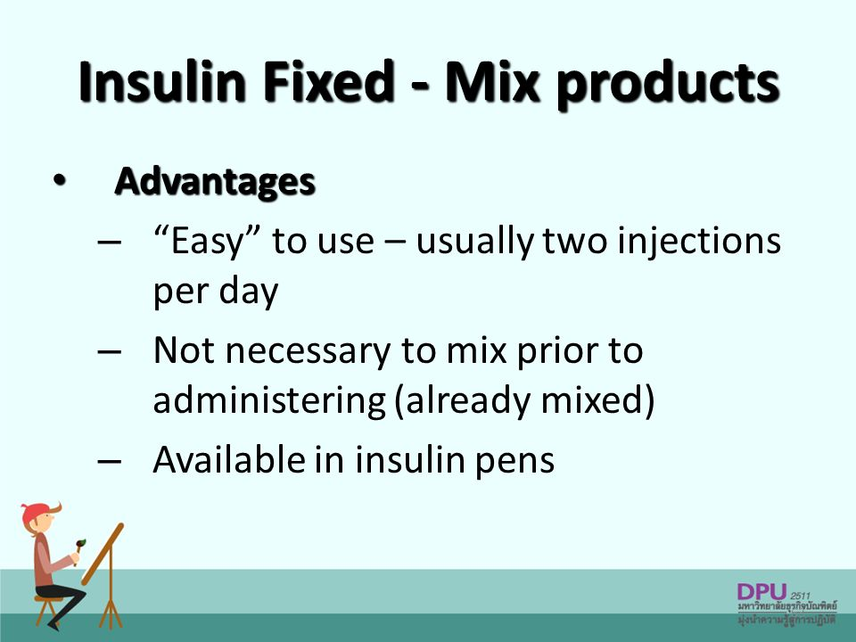 Insulin Fixed - Mix products