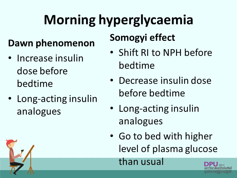 Morning hyperglycaemia