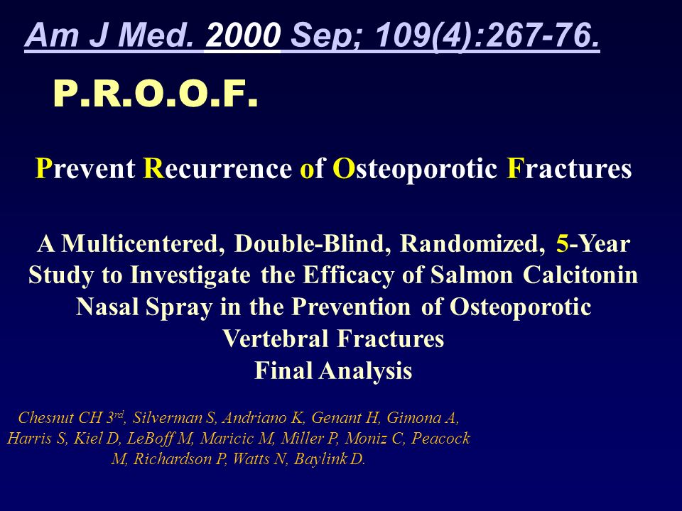 Prevent Recurrence of Osteoporotic Fractures
