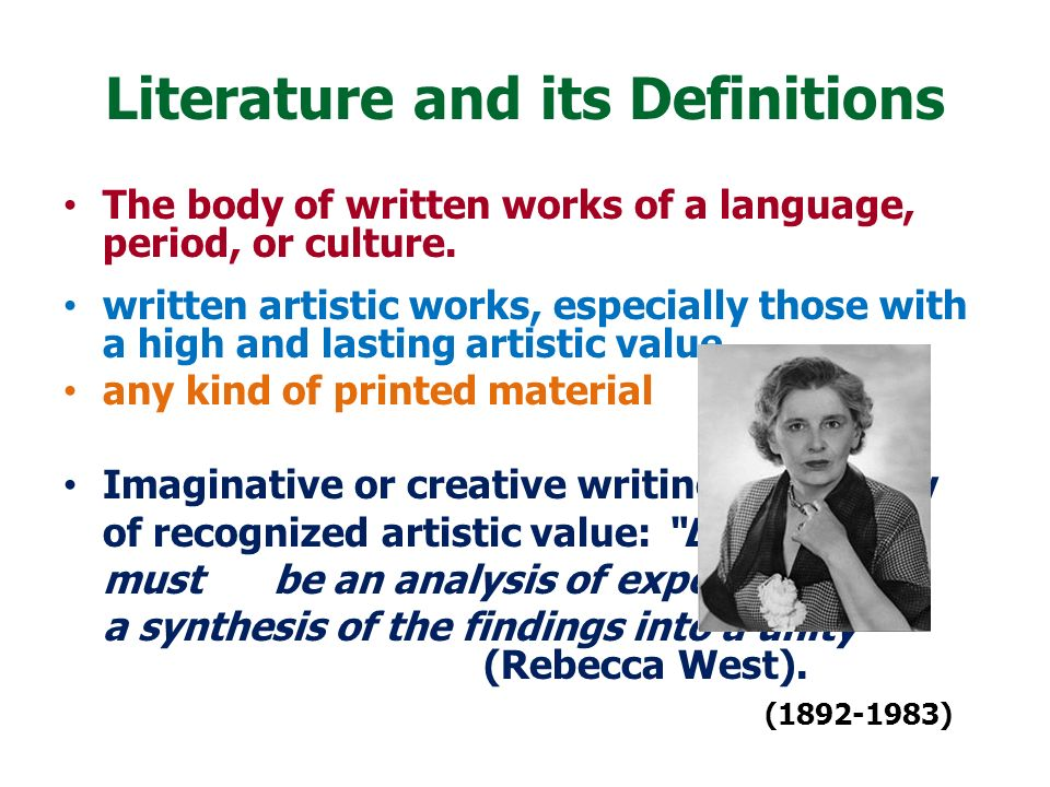Literature and its Definitions