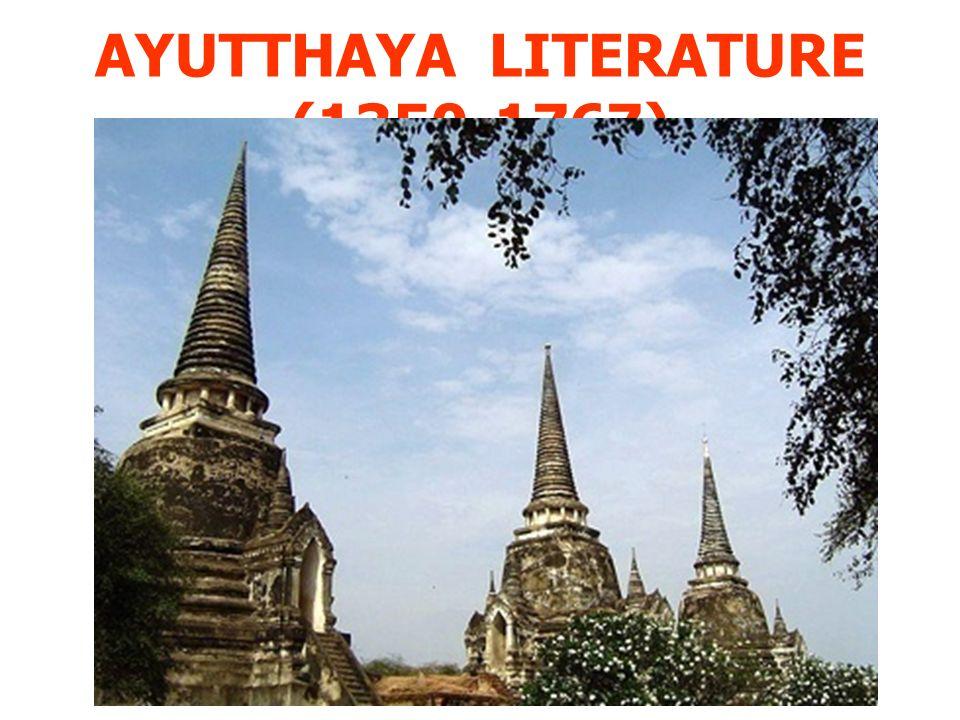 AYUTTHAYA LITERATURE (1350-1767)