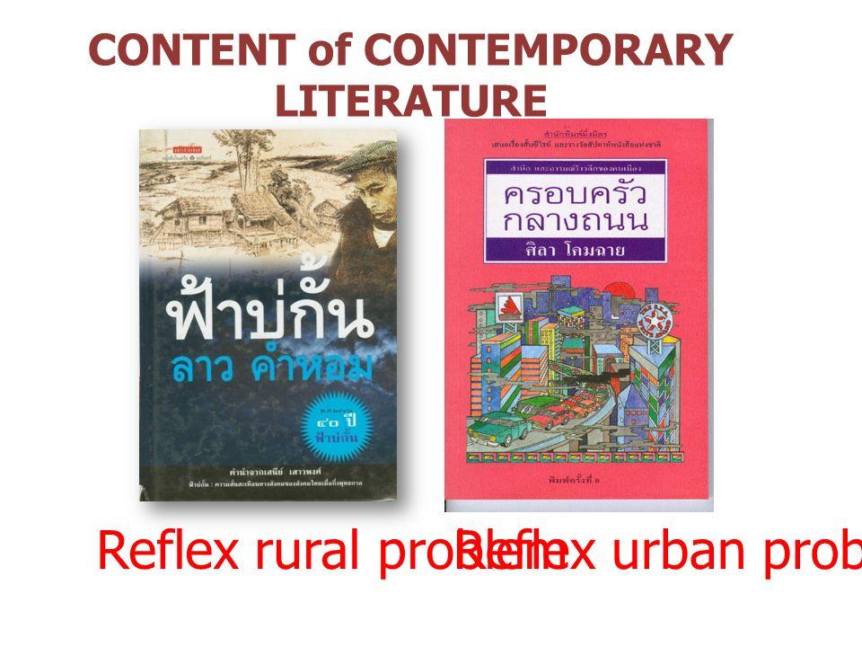 CONTENT of CONTEMPORARY LITERATURE