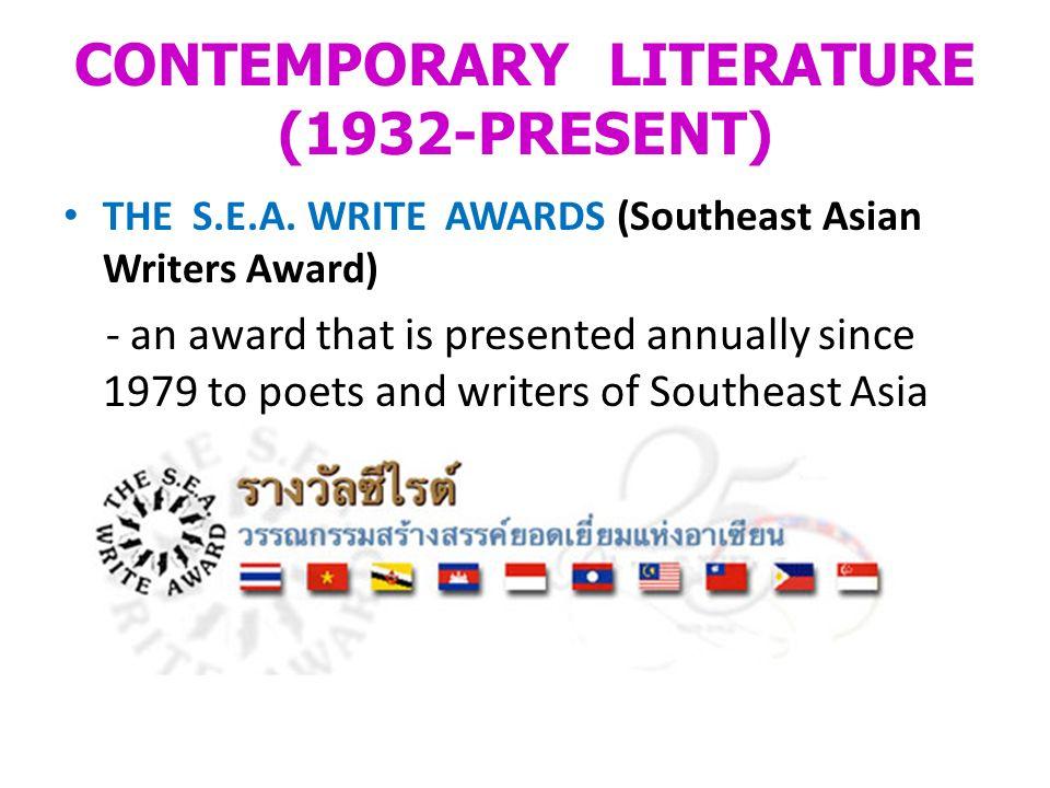 CONTEMPORARY LITERATURE (1932-PRESENT)