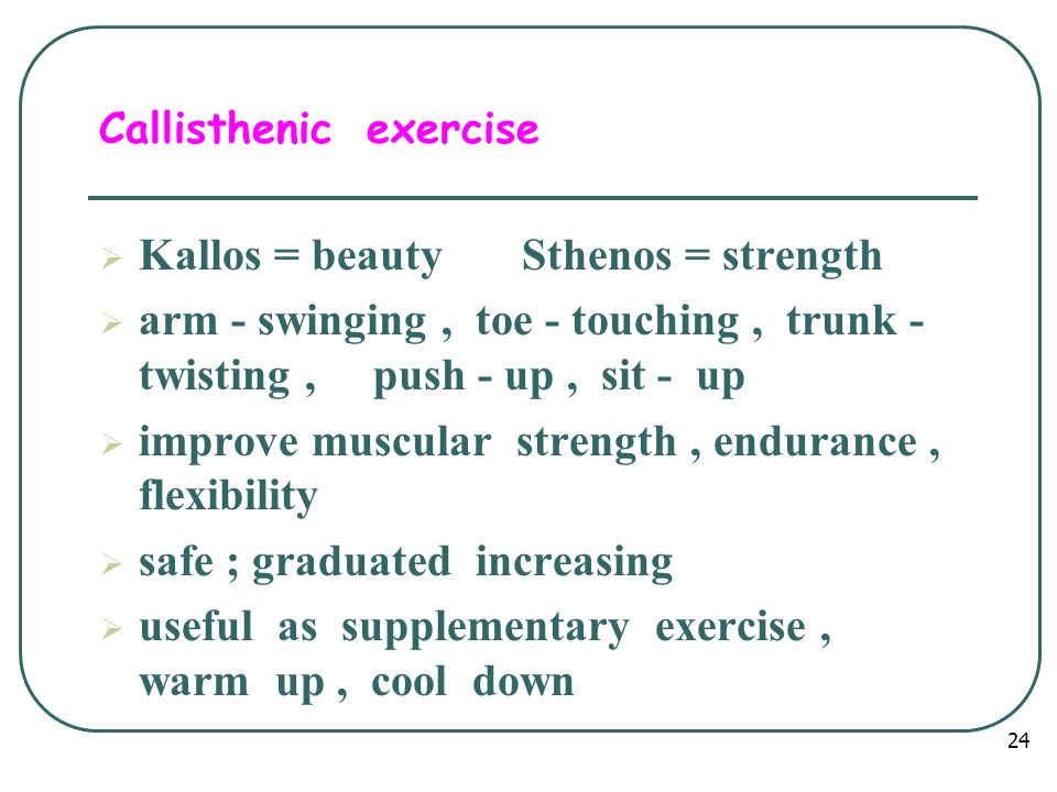 Callisthenic exercise