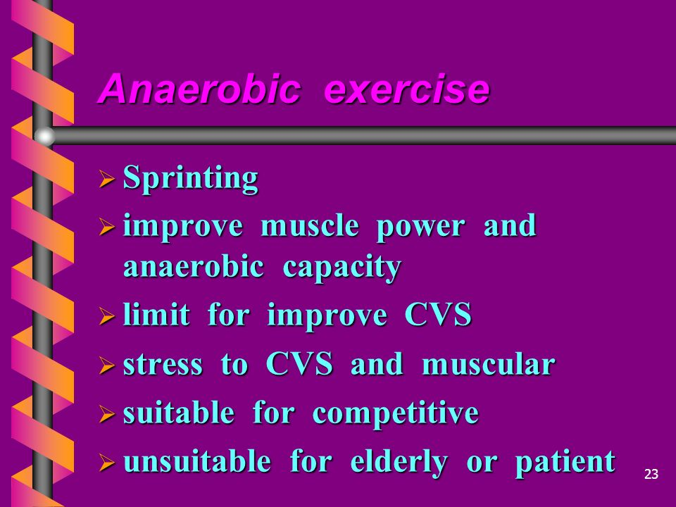 Anaerobic exercise Sprinting