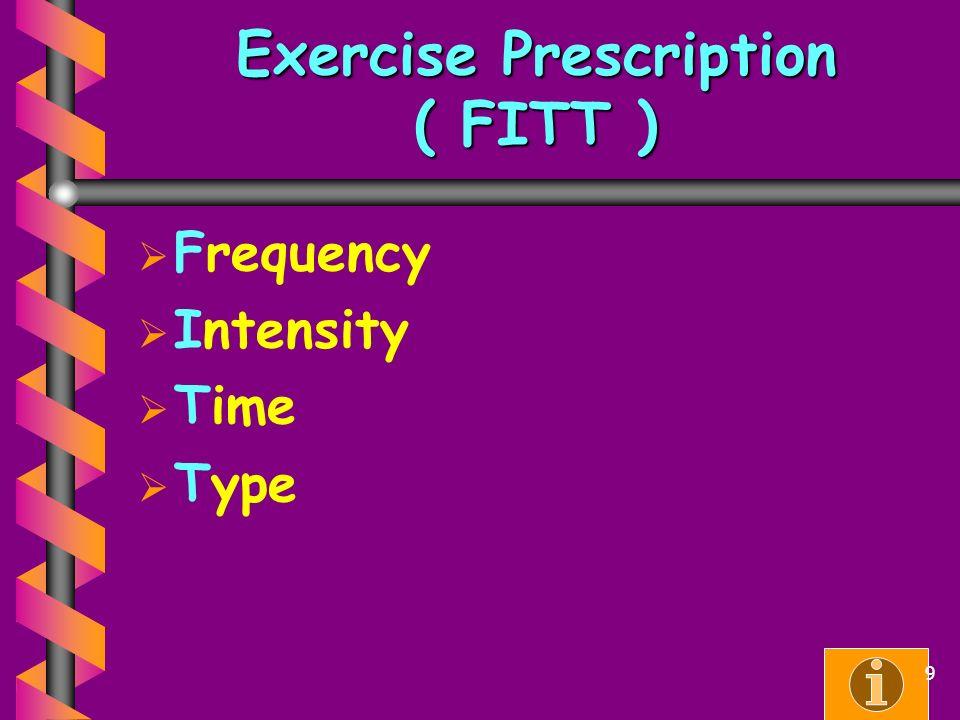 Exercise Prescription ( FITT )