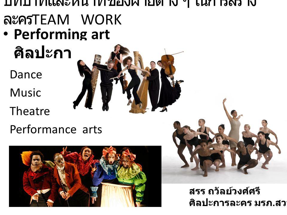 บทบาทและหน้าที่ของฝ่ายต่าง ๆ ในการสร้างละครTEAM WORK