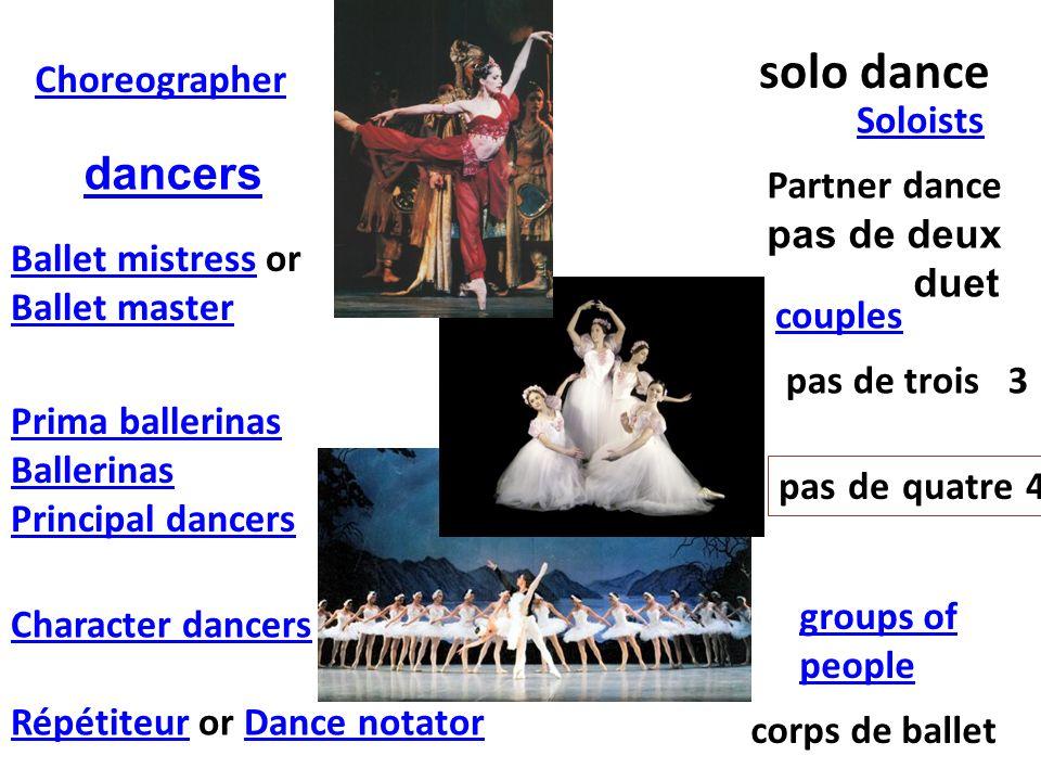 solo dance dancers Choreographer Soloists Partner dance pas de deux