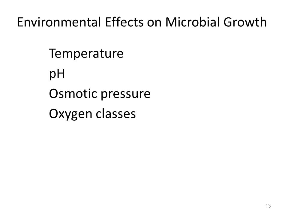 Environmental Effects on Microbial Growth