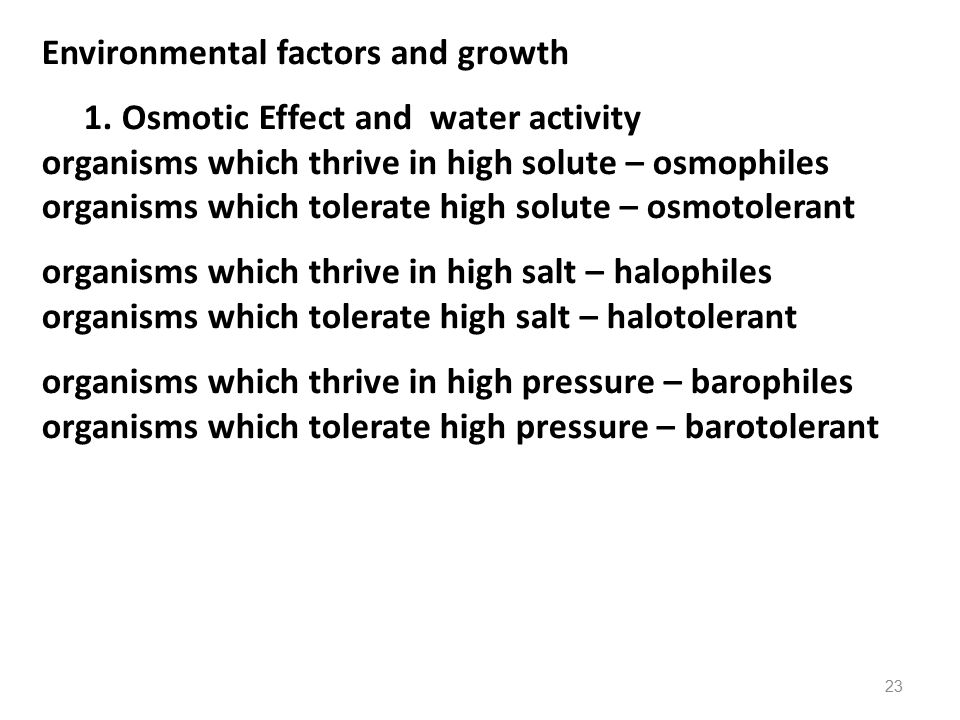 Environmental factors and growth