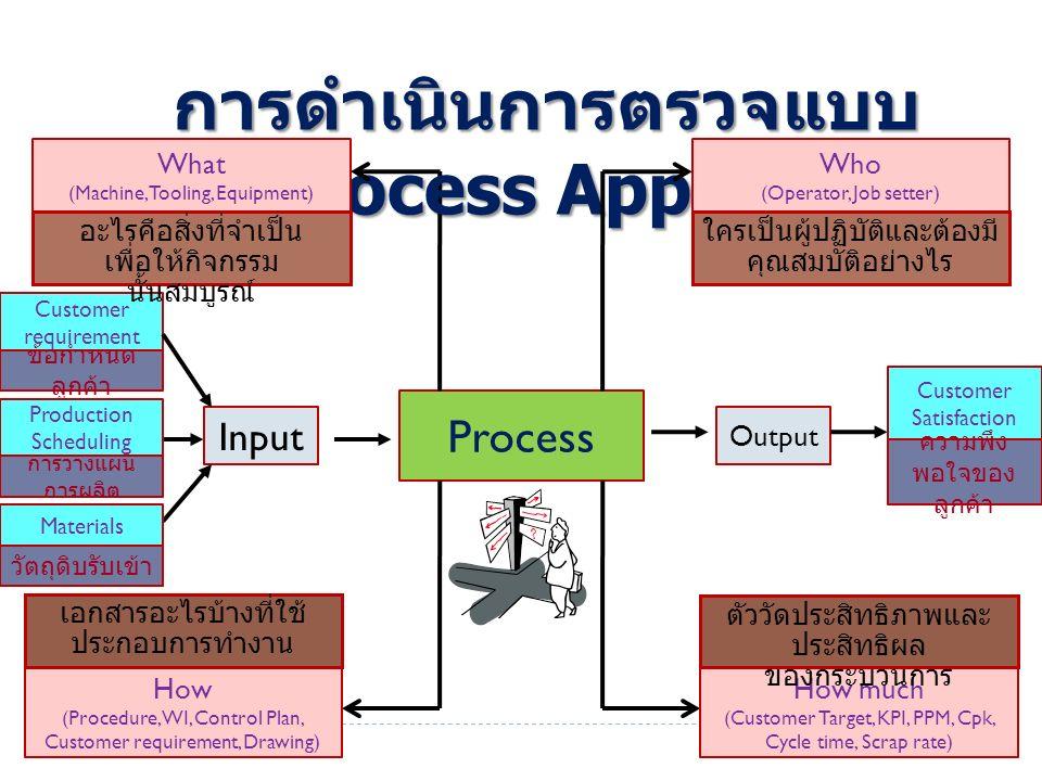 การดำเนินการตรวจแบบ Process Approach