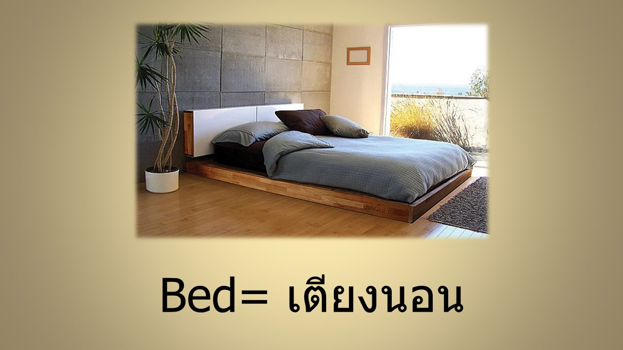 Bed= เตียงนอน