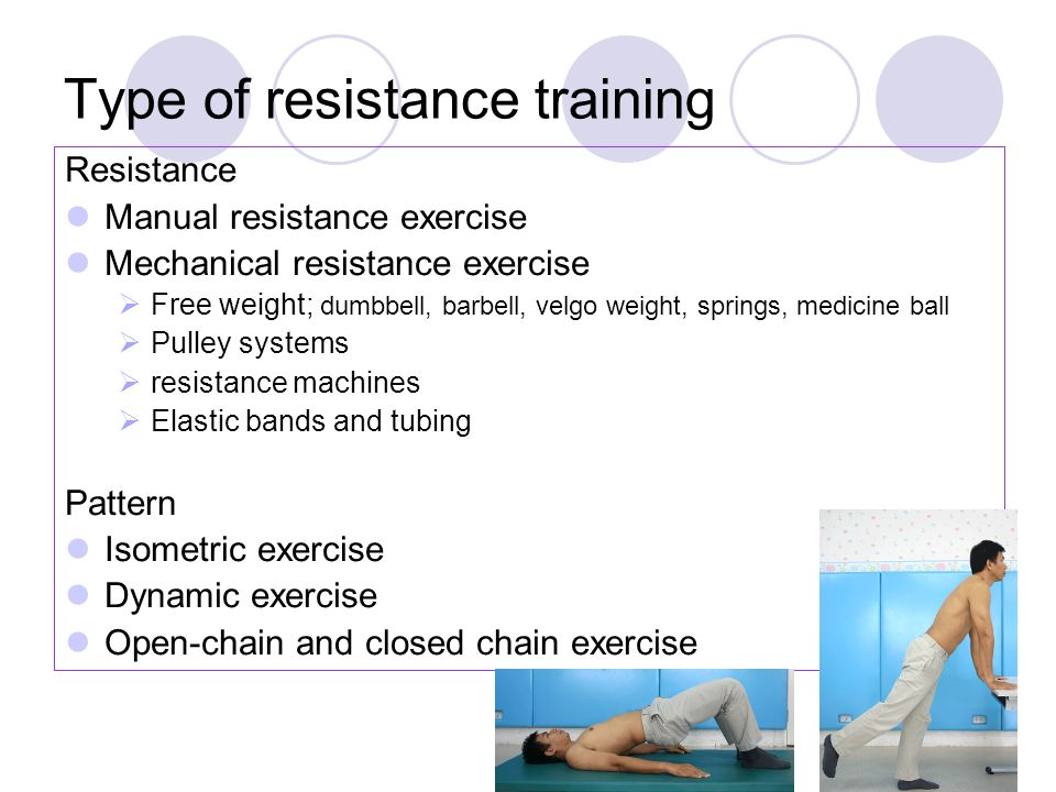Type of resistance training