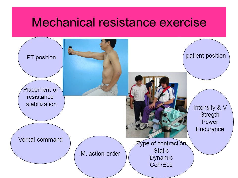 Mechanical resistance exercise