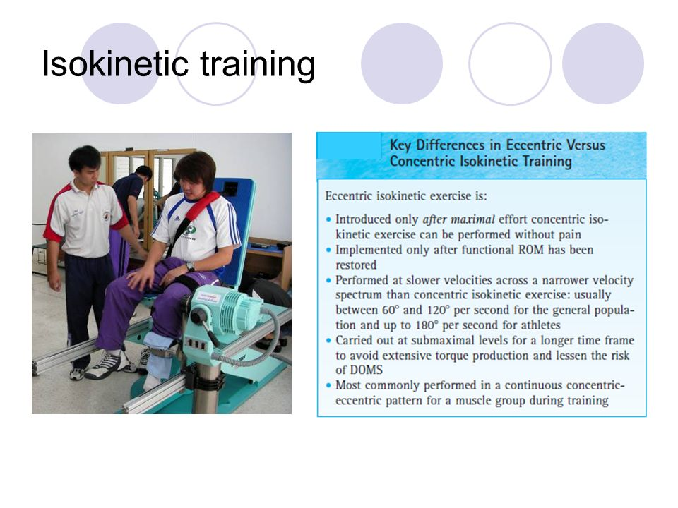 Isokinetic training