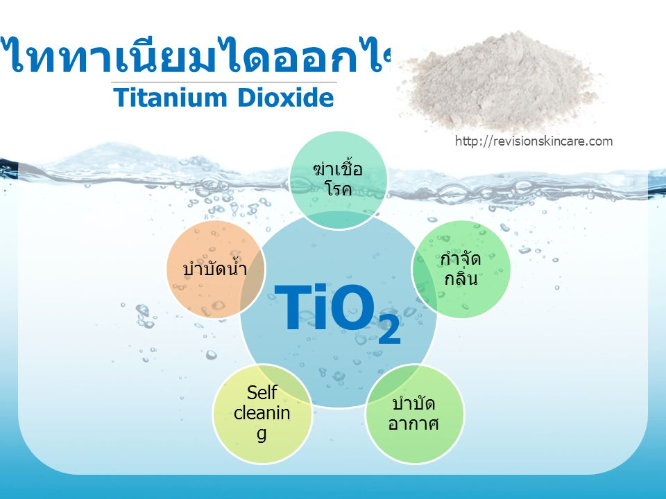 TiO2 ไททาเนียมไดออกไซด์ Titanium Dioxide ฆ่าเชื้อโรค กำจัดกลิ่น