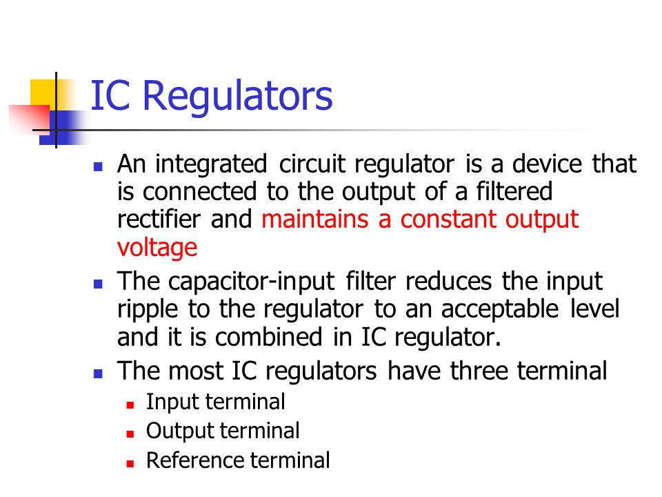 IC Regulators