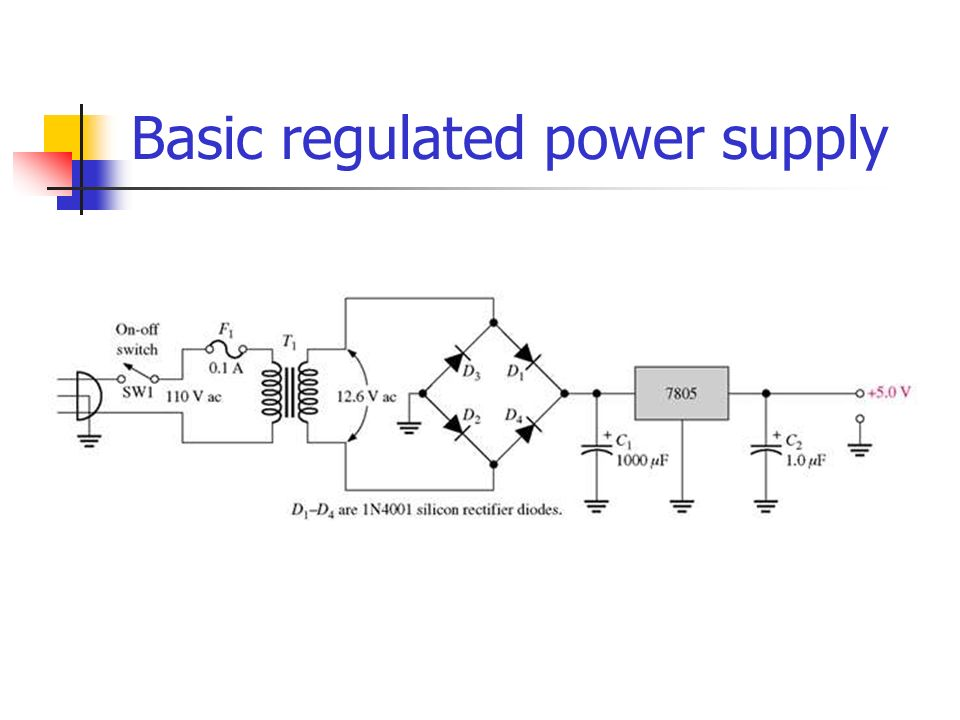 Basic regulated power supply