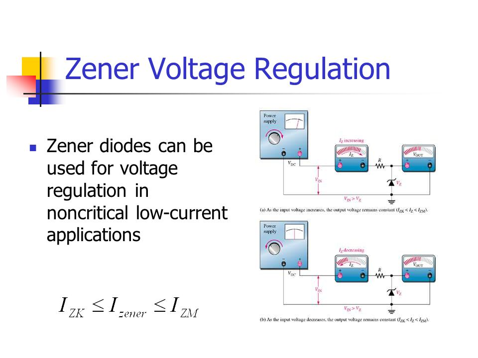 Zener Voltage Regulation