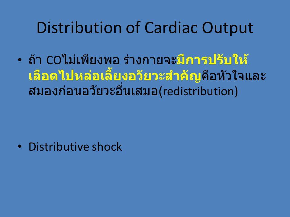 Distribution of Cardiac Output