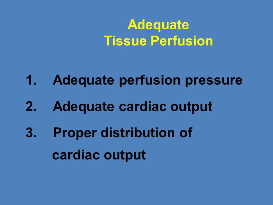 Adequate Tissue Perfusion