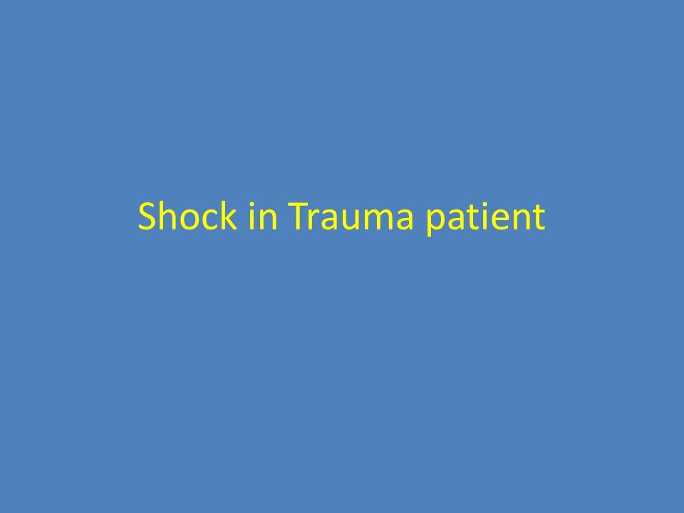 Shock in Trauma patient