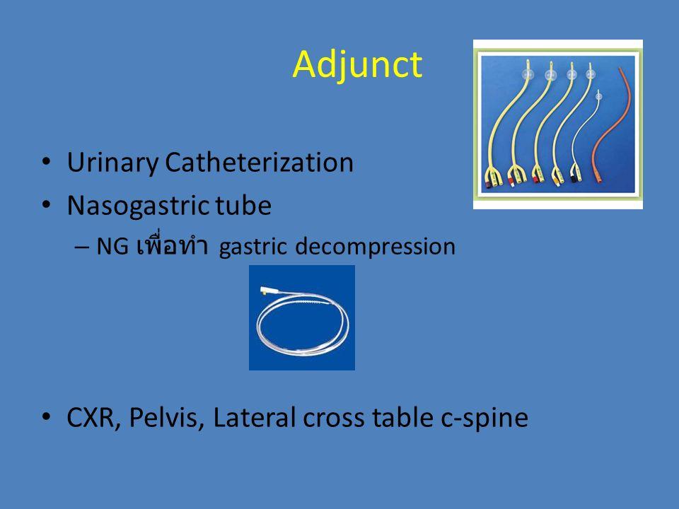 Adjunct Urinary Catheterization Nasogastric tube