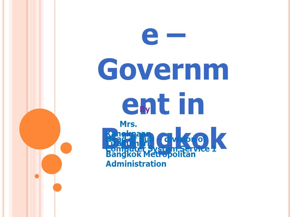 e – Government in Bangkok