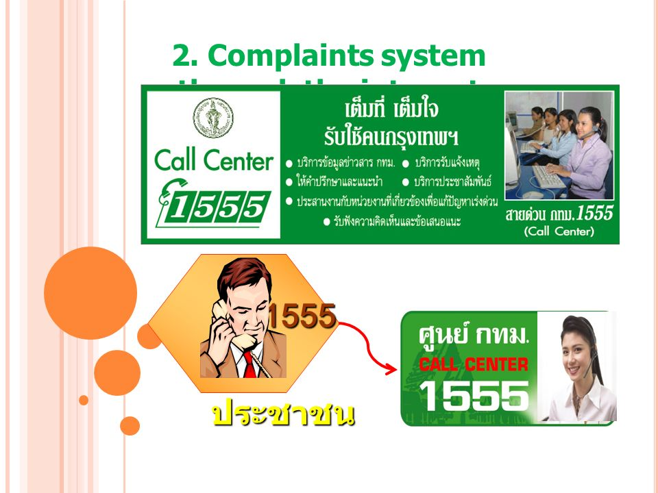 2. Complaints system through the internet