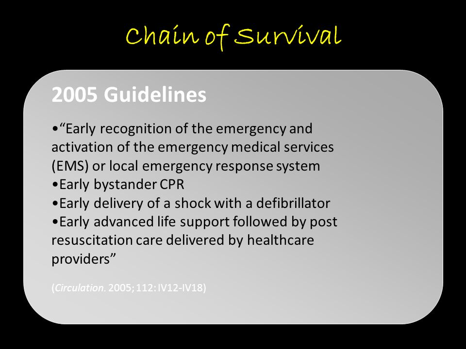 Chain of Survival 2005 Guidelines