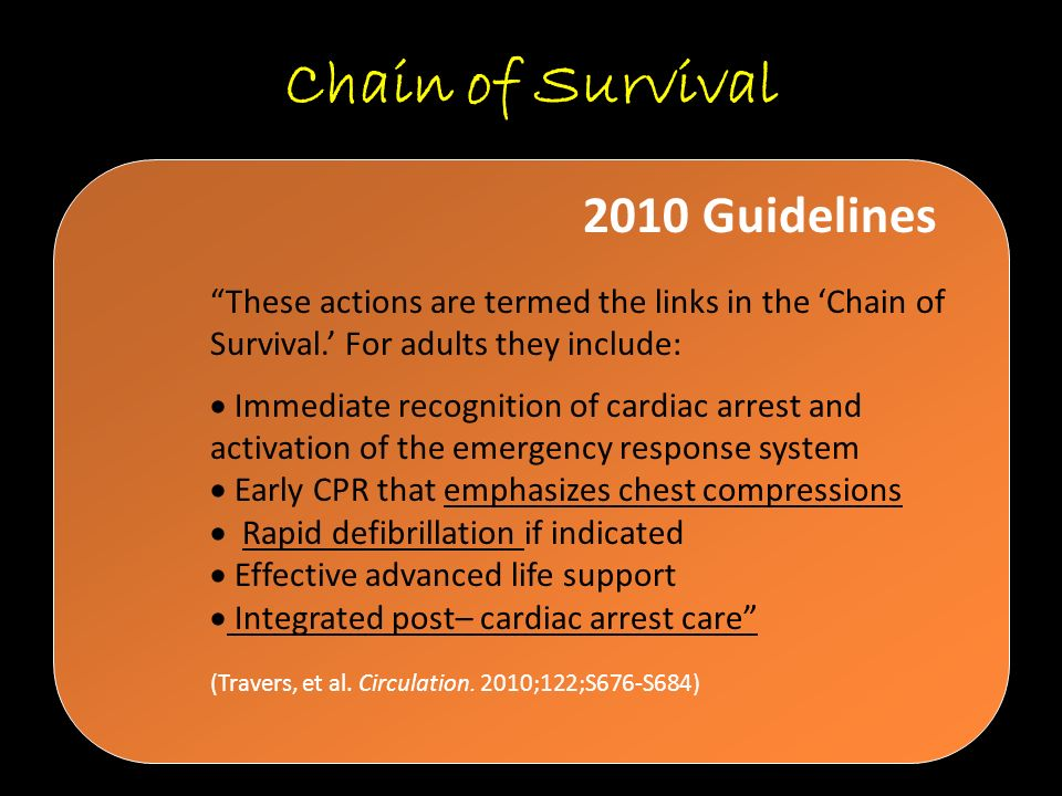 Chain of Survival 2010 Guidelines