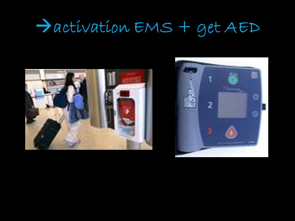 activation EMS + get AED