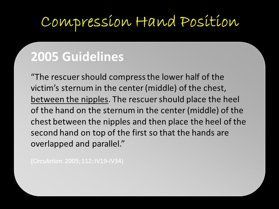 Compression Hand Position