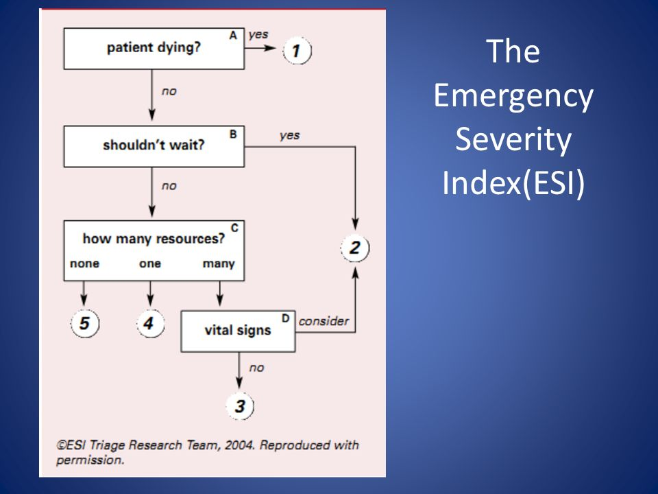 The Emergency Severity Index(ESI)