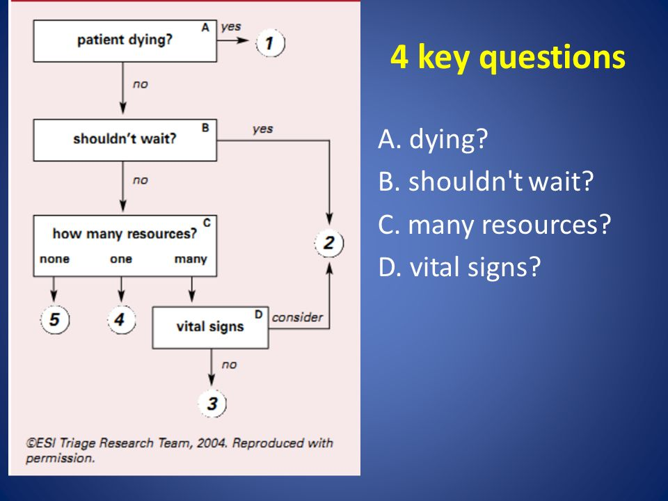 4 key questions A. dying B. shouldn t wait C. many resources