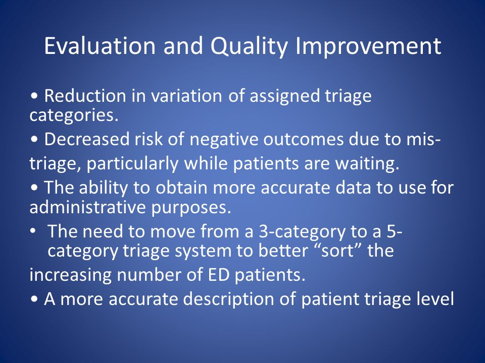 Evaluation and Quality Improvement