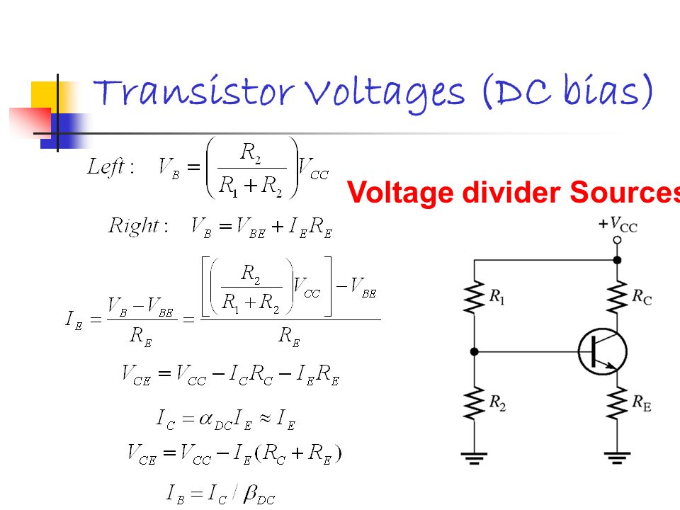 Transistor Voltages (DC bias)