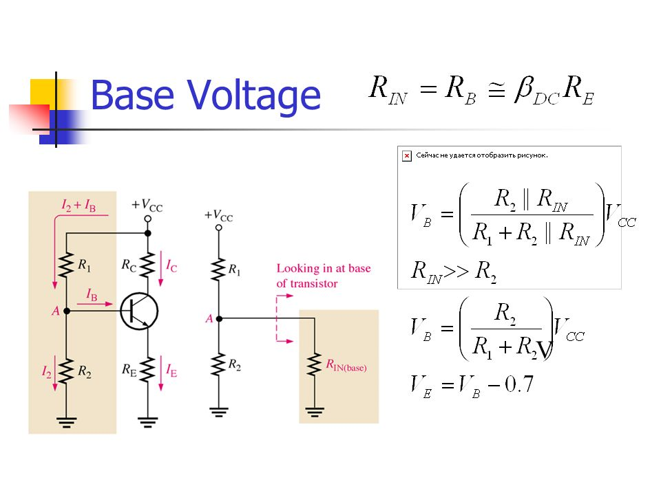Base Voltage V