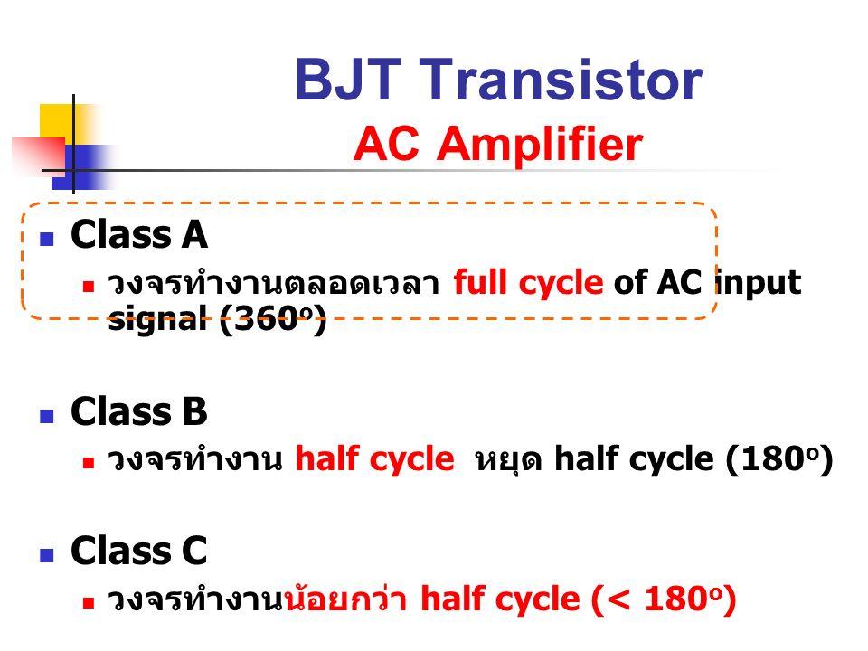 BJT Transistor AC Amplifier