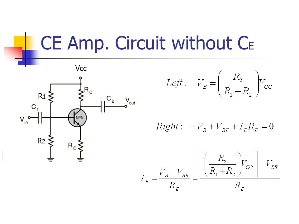 CE Amp. Circuit without CE
