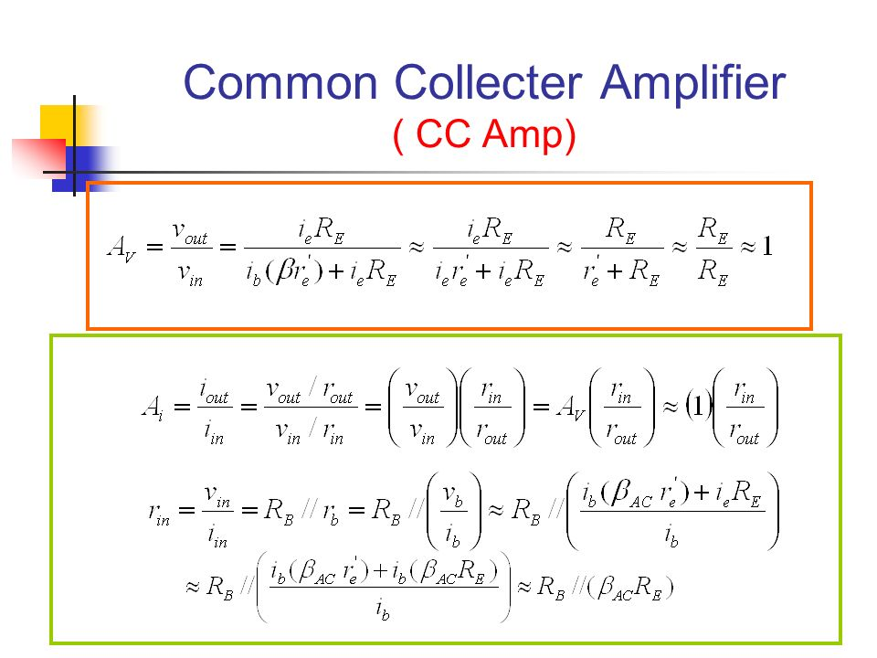 Common Collecter Amplifier ( CC Amp)