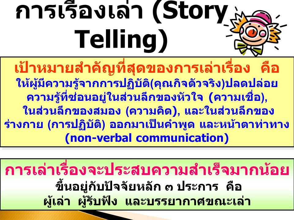 การเรื่องเล่า (Story Telling)