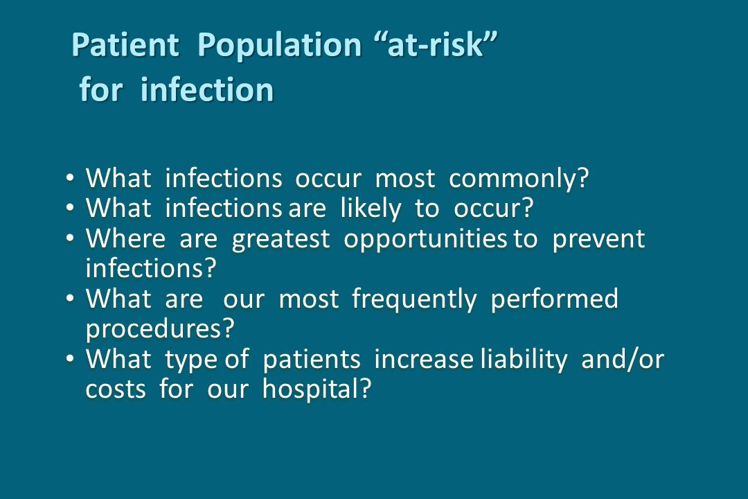 Patient Population at-risk for infection
